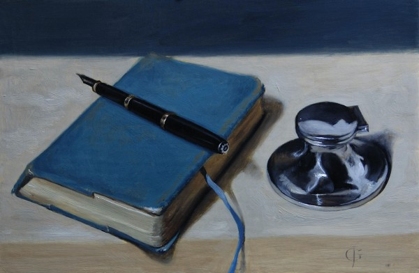 James Gillick, Pen, Book & Silver Inkwell, 2015