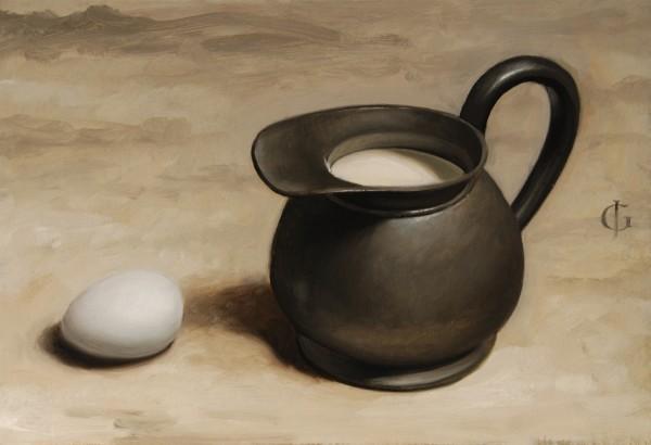 James Gillick, Rotund Pewter Jug & Egg, 2007