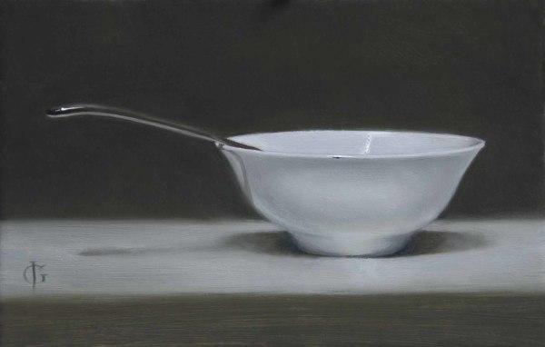 James Gillick, Porcelain Bowl & Spoon