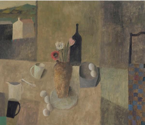 Nicholas Turner, Table with Three Flowers