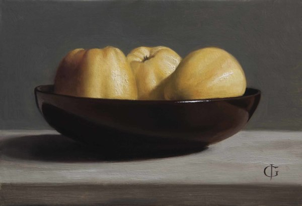 James Gillick, Apples in a Brown Bowl