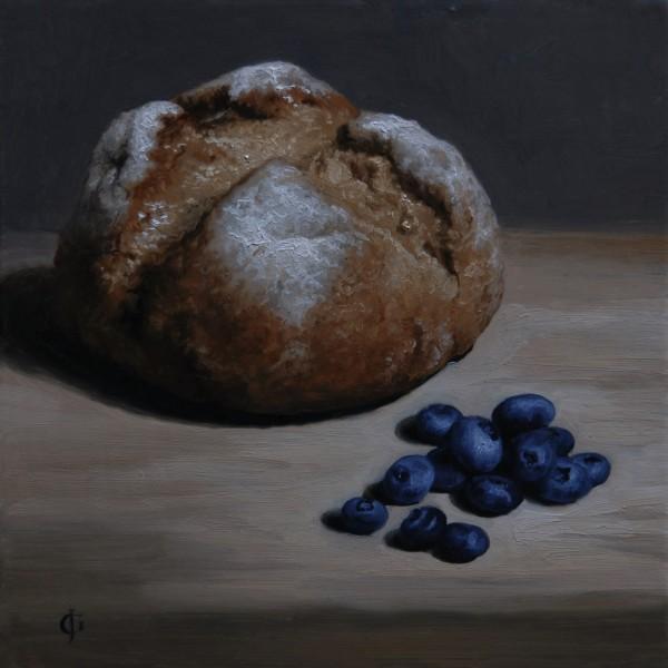 James Gillick, Split Loaf of Bread & Blueberries, 2008