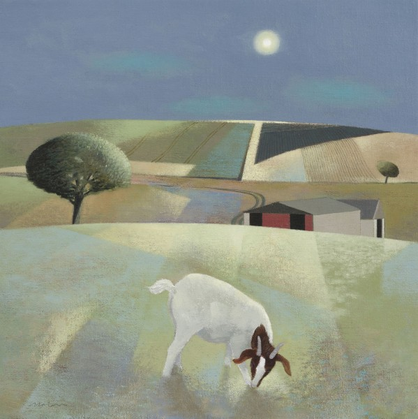 Tom Mabon, Moonlit Fields and Goat