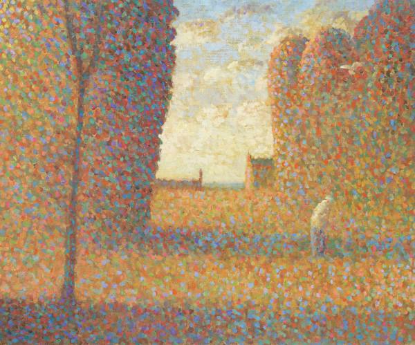 Nicholas Turner, Figure and Bird on a Path