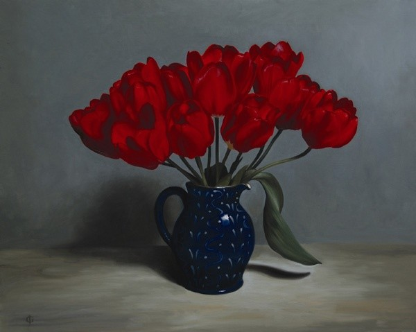 James Gillick, Red Tulips
