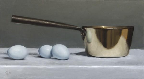 James Gillick, Brass Pan and Blue Eggs