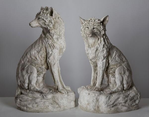 Tanya Brett, Arctic Fox I (left) Arctic Fox II (right)