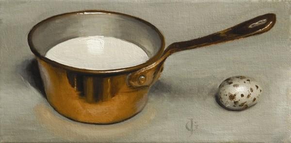 James Gillick, Copper Pan & Quail Egg