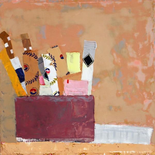 Sydney Licht, Still Life with Sugar Packets & Can, 2016