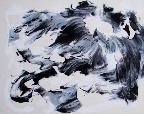 Gudrun Mertes-Frady, Moves in Black and White #40, 2017