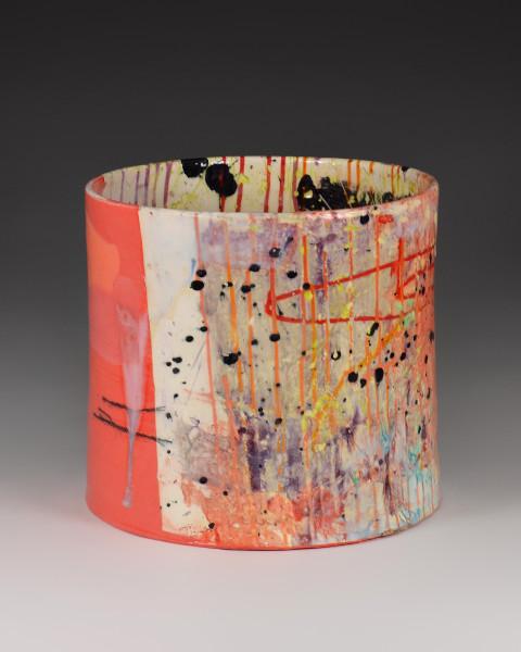 Lauren Mabry, Cylinder (Pink Texture), 2016