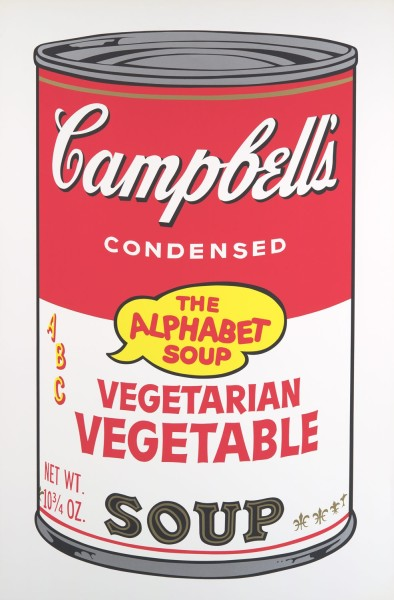 Andy Warhol, Campbell's Soup II: Vegetarian Vegetable, 1969