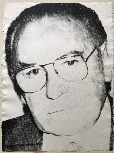Andy Warhol, Portrait of Max Weisshaupt, 1979