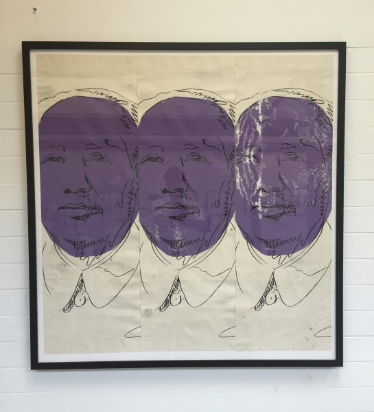 Andy Warhol, MAO original wallpaper., 1974