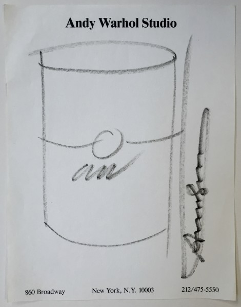 Andy Warhol, Soup Can Drawing, 1985 ca