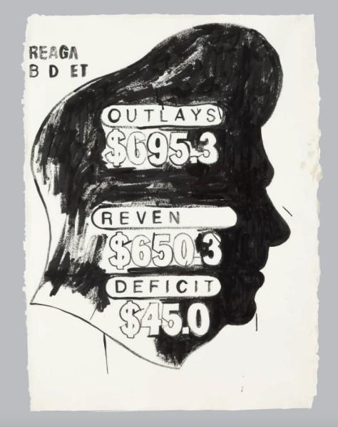 Andy Warhol, Untitled (Reagan Budget), 1983/84