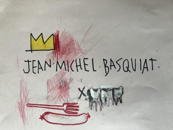 Jean Michel Basquiat, Fork, Sausage & teeths., 1984