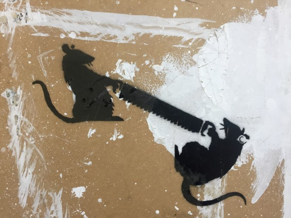 Banksy, Two Rats With Saw, 2003