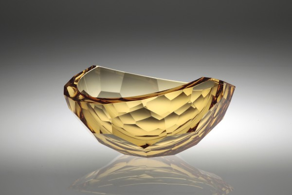 Tomas Brzon, Faceted Bowl, Gold, 2016
