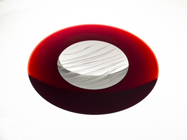 Oliver Lesso, Ripple Lake, Red with aluminium