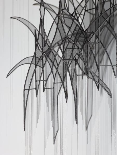 Afruz Amighi, Head Feather II (detail), 2017