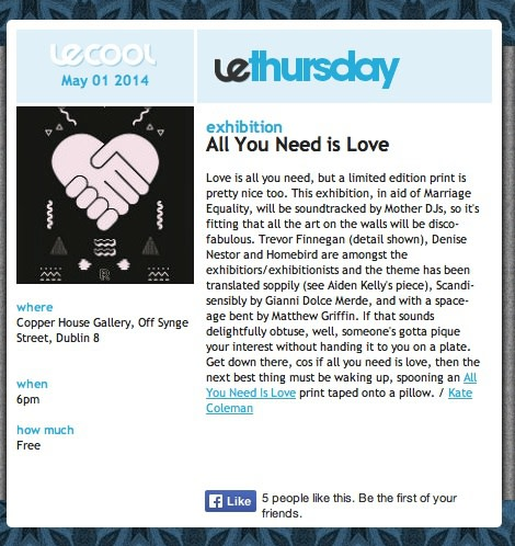 Le Cool review All You Need is Love – a print exhibition in support of Marriage Equality