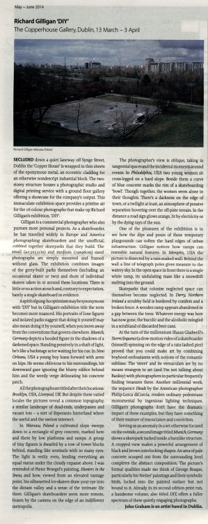 DIY by Richard Gilligan review in The Visual Artists' News Sheet