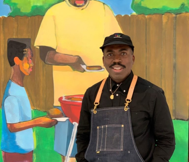 Star Artist Derrick Adams Explains the Radical Power of Making Work About Black People 'Just Being, Living'