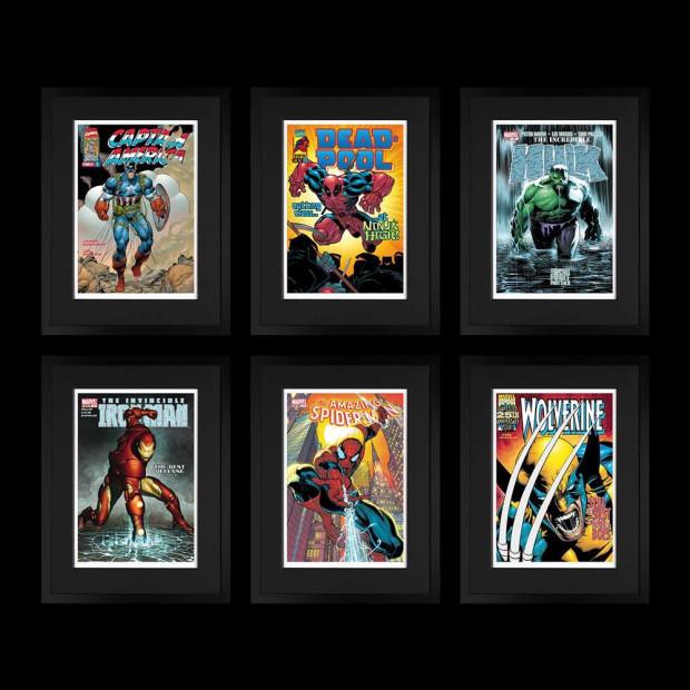 Marvel/ Stan Lee - Marvel Superheroes - Portfolio of 6 , 2018