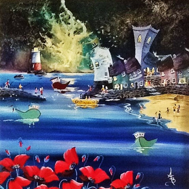 Anne Blundell - Seaside Moonlit Poppies, 2017