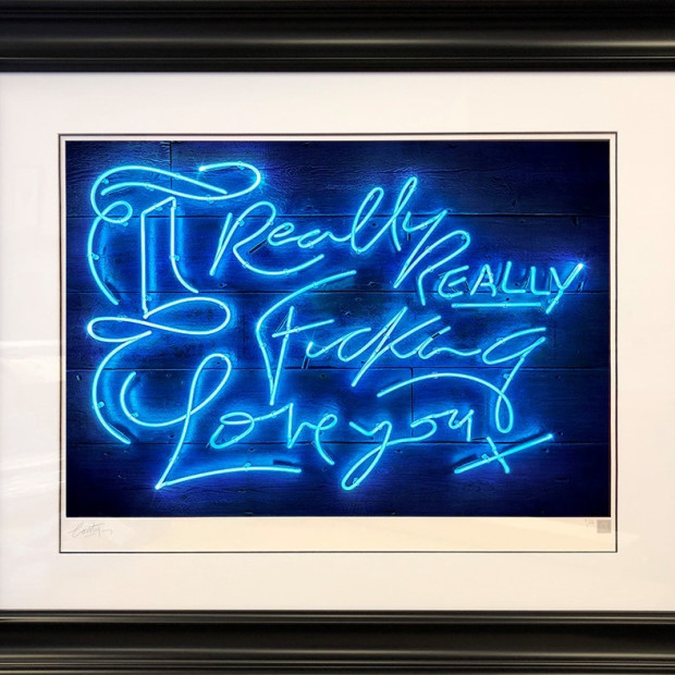 Courty Neon Art - Really, Really - Blue, 2018
