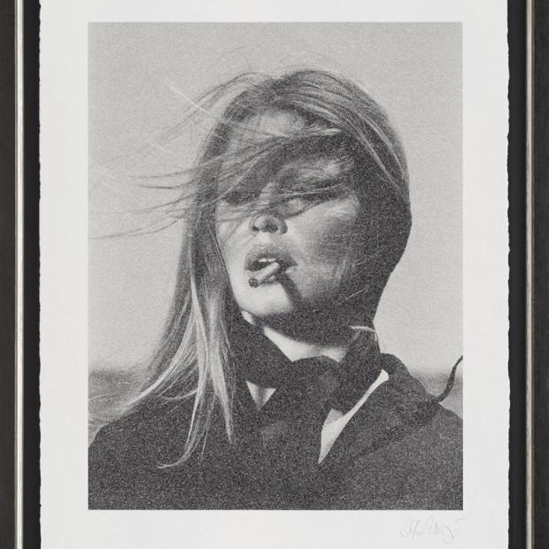 Simon Claridge - Bardot with Cigar - Silkscreen on paper – 2017, 2017