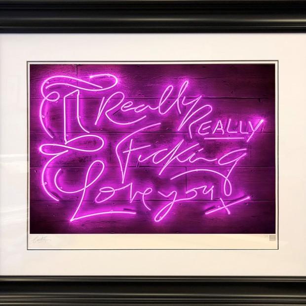 Courty Neon Art - Really, Really - Purple Haze, 2018