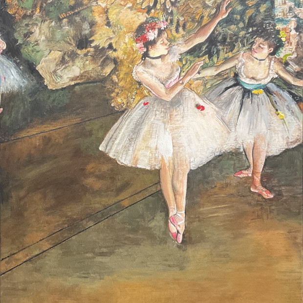 Peter Osborne - Edgar Degas - Two Dancers On A Stage , 2021