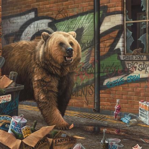 Paul James - Grizzly - Canvas, 2017