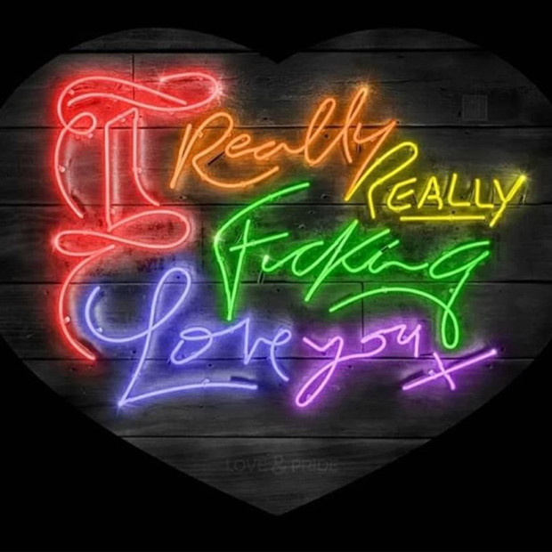 Courty Neon Art - Love & Pride - Rainbow / Pride Month Special Edition, 2020