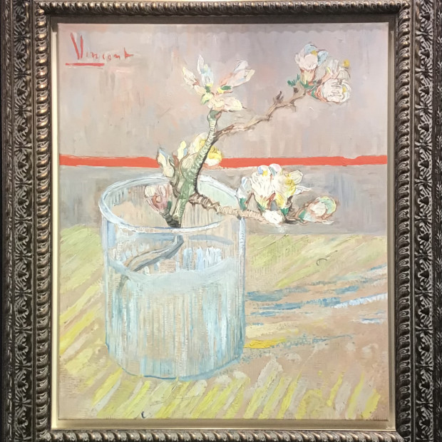 Peter Osborne - Sprig of Flowering Almond in a Glass - Vincent Van Gogh , 2021