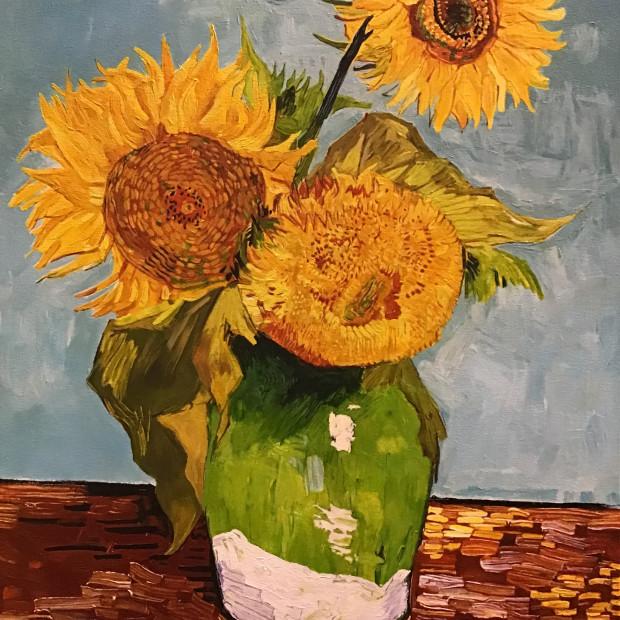 Peter Osborne - Lausanne Sunflowers - Vincent Van Gogh , 2019