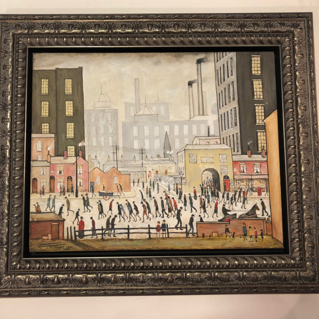 Peter Osborne - L S Lowry Coming From The Mill, 2020