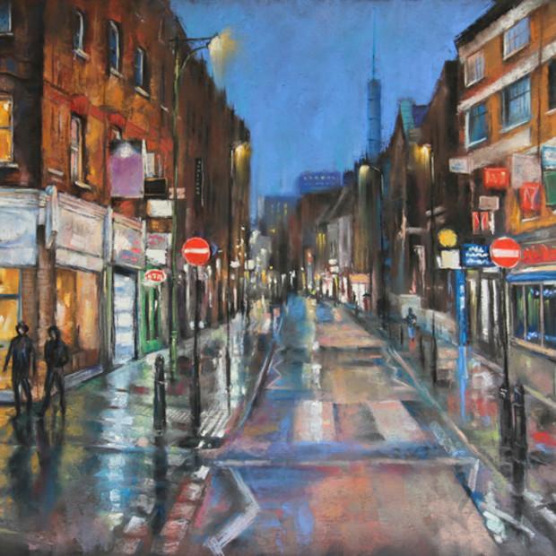 Marc Gooderham - Rainy Night, Brick Lane , 2021