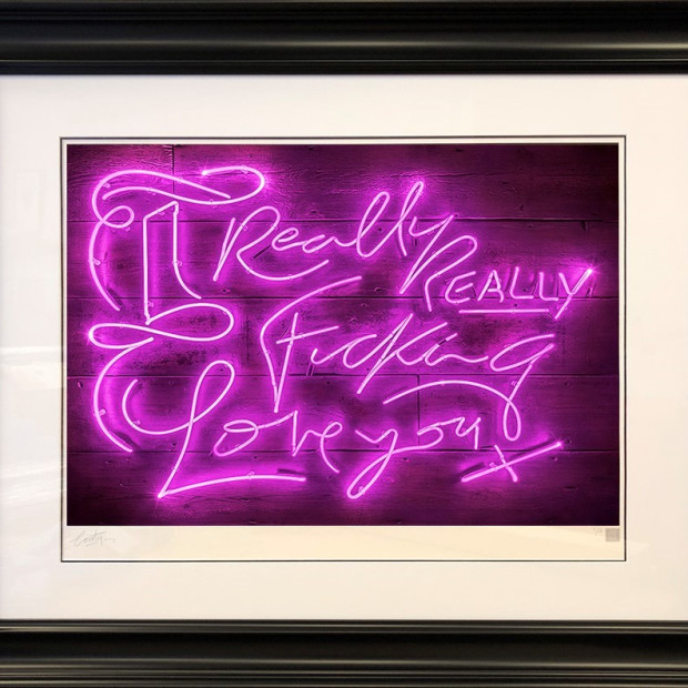 Courty Neon Art - Really Really - Purple Haze, 2018