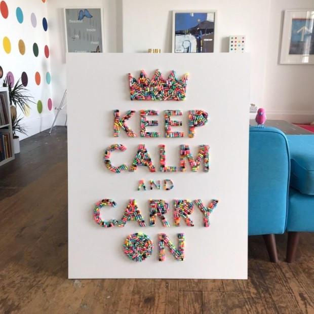 For the time being, we'll be Keeping Calm and Carrying On...at home