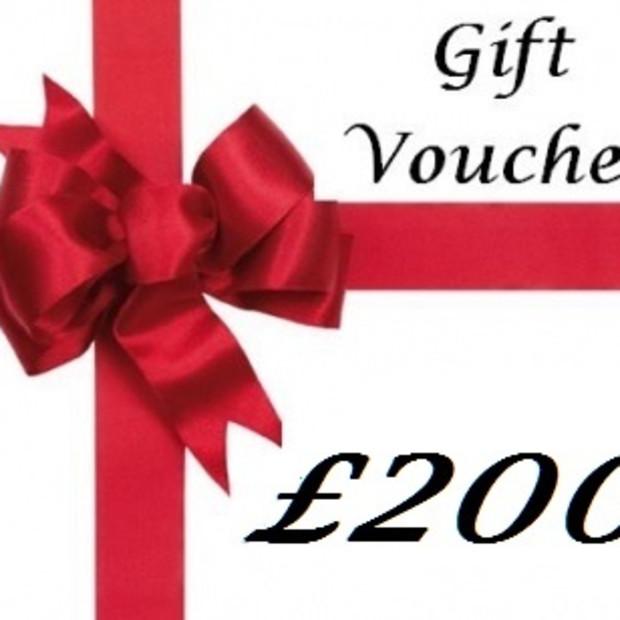 Gift Voucher, Gift Voucher £200