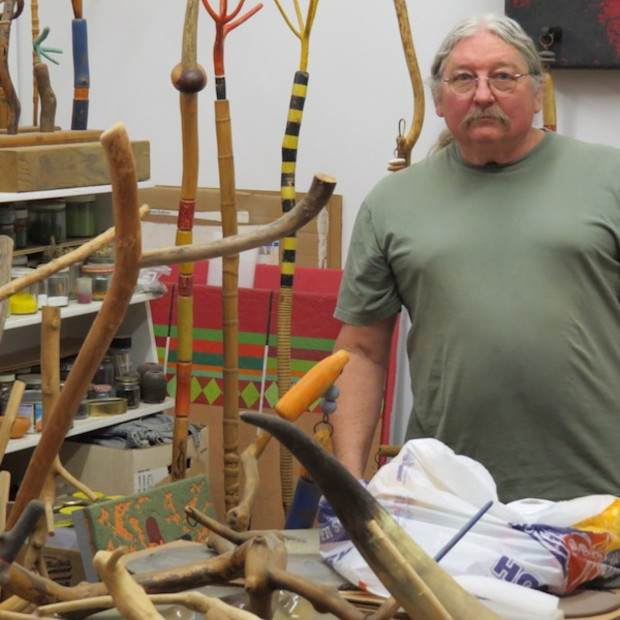 Danville Chadbourne in his studio. Photo by David S. Rubin.