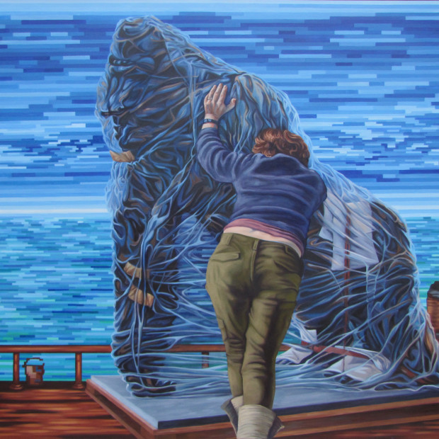 Devon Nowlin, Gorillas in the Midst, Oil on Canvas, 2012