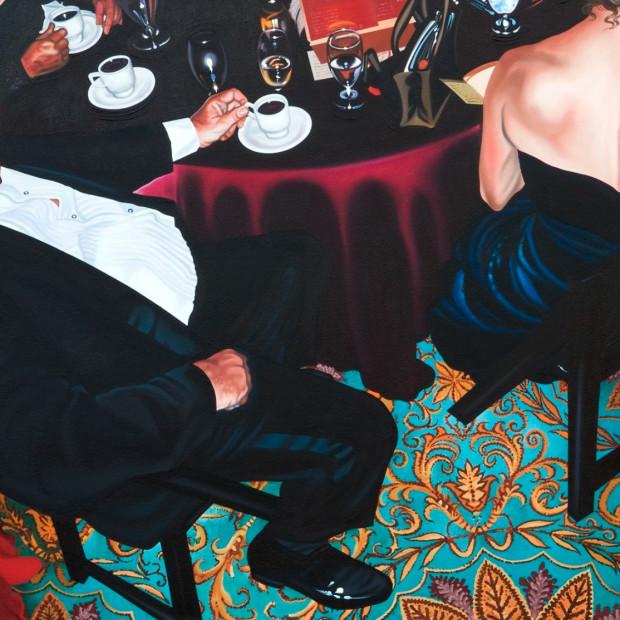 Nancy Lamb, Caffeine Malfunction, Oil on Canvas