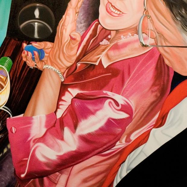 Nancy Lamb, Secret Bid, Oil on Canvas