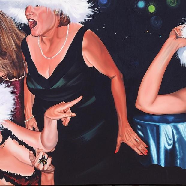 Nancy Lamb, Zoo Ball, Oil on Canvas