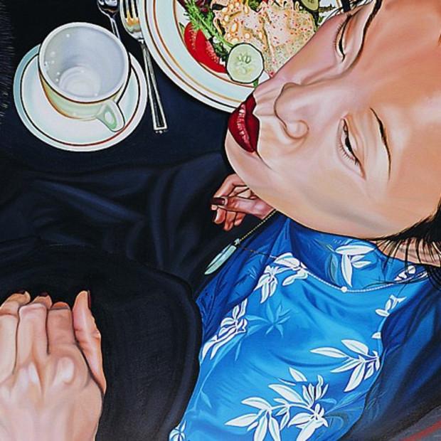 """Self Portrait with Doggy"" by Nancy Lamb"