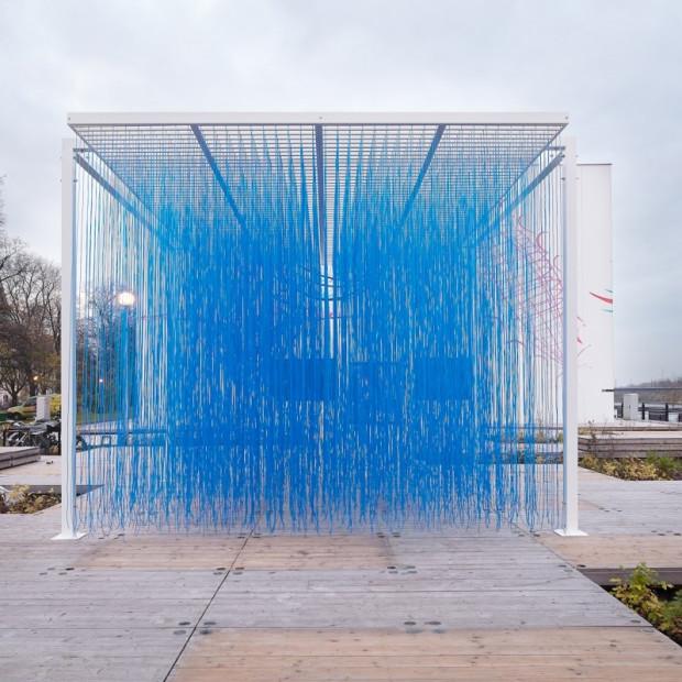 Jesús Rafael SOTO - Untitled, 1970 Permanent installation for the entrance hall of the Faculté de Médecine et de Pharmacie in Rennes, France